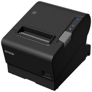 TM-T88VI-241 Receipt Printer Black Serial + built-in Ethernet & built-in USB with Power Supply. Order Data Cable and AC li