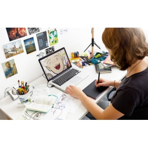 Wacom One by Small. Connectivity technology: Wired, Resolution: 2540 lpi, Working area: 152 x 95 mm. Product colour: Black