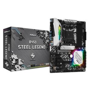 Asrock B450 Steel Legend. Processor manufacturer: AMD, Processor socket: Socket AM4, Compatible processor series: AMD A. S